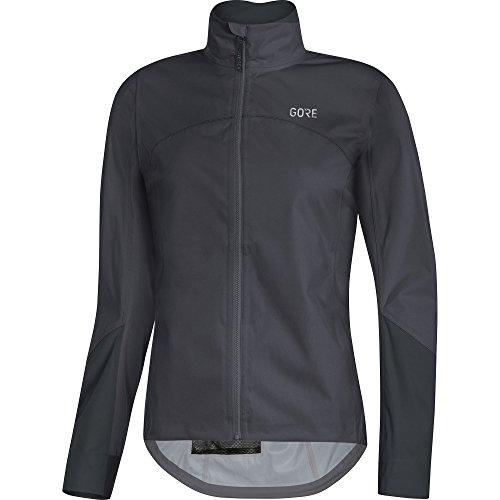 GORE Wear Women's Waterproof Road Bike Jacket, C5 Women's GORE-TEX Active Jacket, Size: M, Color: Terra Grey/Black, 1100220