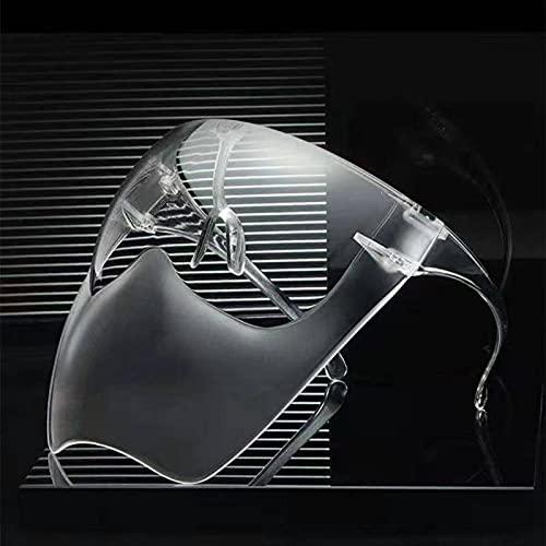 Lunettes soleil dégradées pour adultes hommes et femmes demi-masque à la mode anti-éruption cutanée transparente anti-ultraviolets lunettes divertissement quotidiennes masque lunettes d'équitation