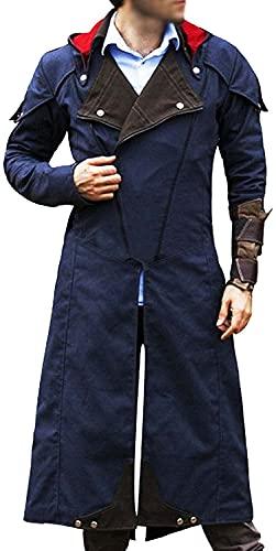 Chaqueta de trinchera azul de mezclilla para hombre Games Super Hero Costume