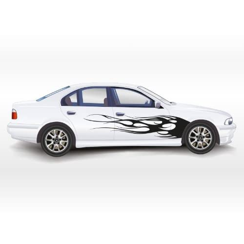 CAR DECORATION DECALS STICKER FLAME X 2 PIECES