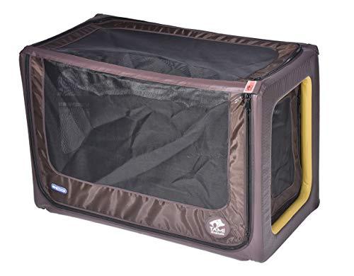 Tami - Hundetransportbox aufblasbar Tragebox Transportbox Hundebox Reisebox Autotransportbox Kofferraumbox Gitterbox Käfig Hund Box Dogbox inflatable inkl. Dog-Vital Bio-Hundekeks (Backseat M)