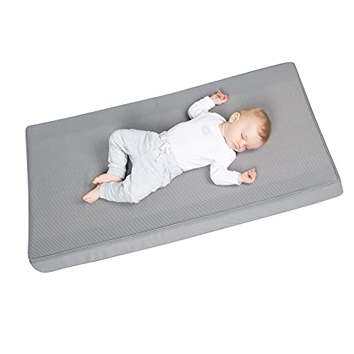 safe asleep von roba Babybettmatratze AIR BALANCE PREMIUMMESH, 60x120x9 cm, atmungsaktives 3D Material für optimales Schlafklima, mehrfach, gelocht, Babybettmatratze, Kinderbettmatratze, Trittkante