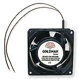 Ventilador fan Axial para Cassette de chimeneas insertable alta temperatura de aspas metálicas universal. (80x80x38mm)