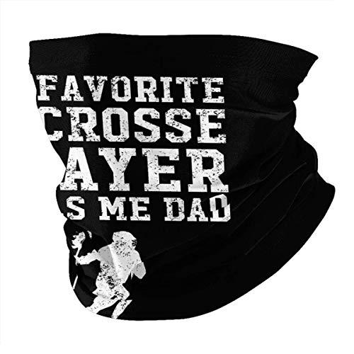 N/W My Favorite Lacrosse Player Calls Me Dad Mascarilla facial reutilizable para protección de verano, bufanda para cuello