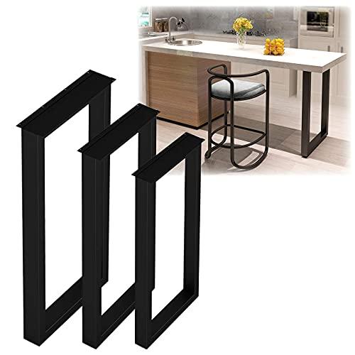 YANJ 2 patas de mesa industriales de metal, resistentes, cuadradas, patas de hierro, patas de repuesto, fáciles de instalar, para mesa de café, escritorio, bar, banco, 40 x 70 cm