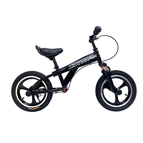 Bicicletas sin Pedales Bicicleta de Equilibrio para Niños / Adolescentes / Niños, Bicicleta Sin Pedal para Correr con Frenos y Neumáticos de Aire de 16 Pulgadas, Marco de Aluminio Ligero, 65 Kg Máximo