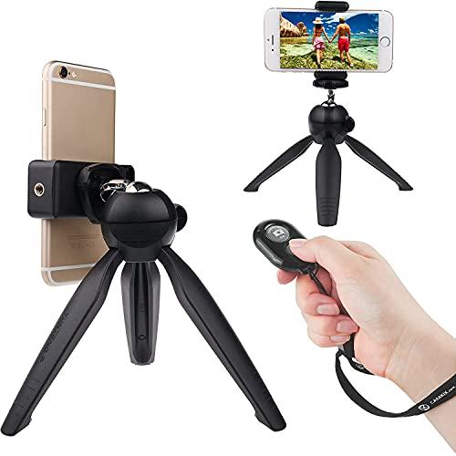 CamKix Bluetooth Camera Shutter Remote Control and Premium Tripod for Smartphones – Create Amazing Photos and Selfies (Premium Tripod + Bluetooth Shutter Remote)