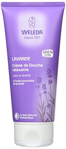 Crema corporal para la ducha Weleda de lavanda, 200ml.