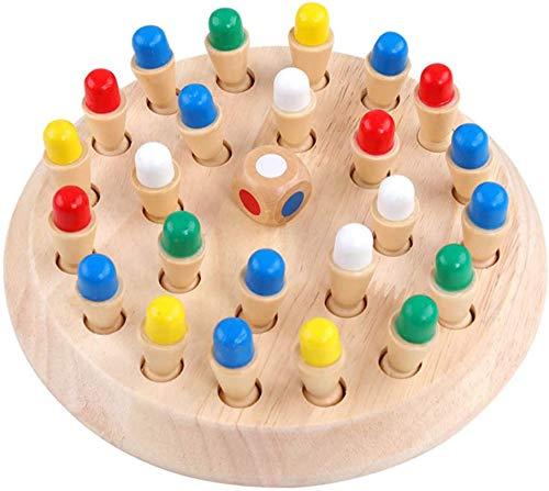 XIAPIA Memoryschach Holzspielzueg für Kinder ab 3 | Memory Chess Game für Erwachsene | Tetris Holzpuzzle Lernspielzeug als Geschenk für Geburtstag Party