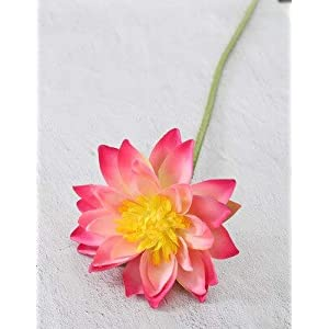 Artificial and Dried Flower Artificial Flower Single Large Lotus Flower Arrangement Silk Simulation Flower Home Party Holiday Christmas Wedding Decoration