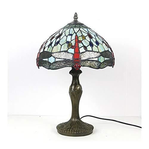 American Pastoral Dragonfly Escritorio Lámpara 12 Pulgadas Sala de Estar Estudio Lámpara de Ojos Lámparas para dormitorios Lámpara de Noche
