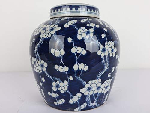 Yajutang Chinesische Porzellan Deckelvase 20cm hoch Ø 18