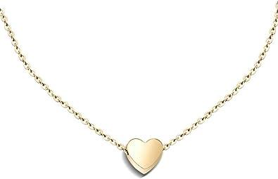 Genuine 925 Sterling Silver Heart Necklace Small Mini Charm Pendant Open Love