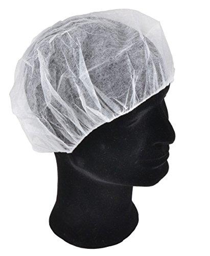 Solida Schwesternhauben Kopfhauben weiss Hygiene Vlieshauben Einmalhauben Baretthauben OP Hauben (1 x 100 Stück)
