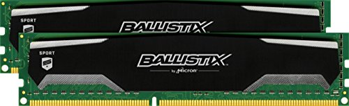 Ballistix Sport BLS2KIT4G3D1609DS1S00 8GB (4GB x2) Speicher Kit (DDR3, 1600 MT/s, PC3-12800, DIMM, 240-Pin)