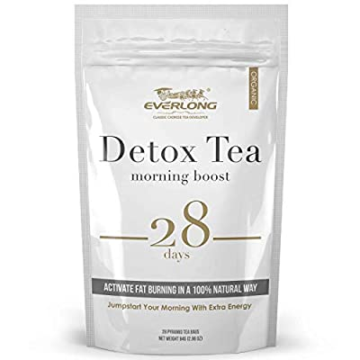 Detox Tea 28 Day Ultimate Teatox - Morning Boost - Burn Fat and Boost Your Energy, Colon Cleanse, Restore Your Body Natural Balance and Accelerate Weight Loss by Everlong Tea Co