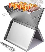 Portable Charcoal Grill Small Folding BBQ Grill Stainless Steel Camping Grill