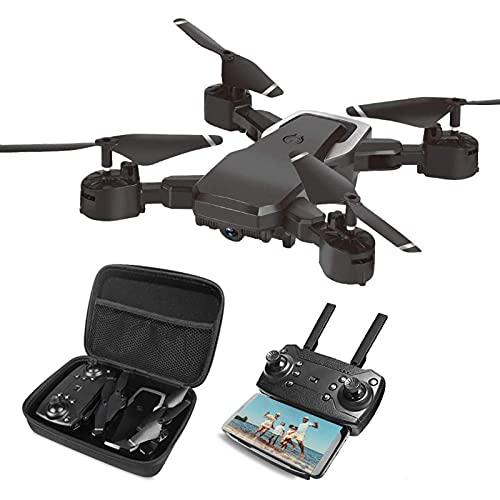 Drone Pieghevole con Fotocamera per Bambini Adulti, Quadricottero RC con Telecomando HD FPV da 2 MP per Bambini Principianti Ragazzi Giocattoli Regali, Controllo dei gesti, Aereo Volante Senza Testa