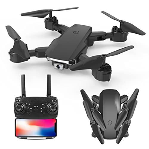 Lobhqph 2021 Nuevo RC Mini Drone con cámara Dual de Gran Angular 4K WiFi FPV Drones Altura Mantener el Control Drones Quadcopter Plegables Seguimiento Inteligente con una tecla para regresar a casa