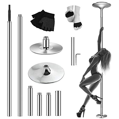 MASTRICK Professional Stripper Pole Spinning Static Dancing Pole Portable Removable [ Upgrade 2020 ] 45 mm Dance Pole Kit for Exercise Club Party