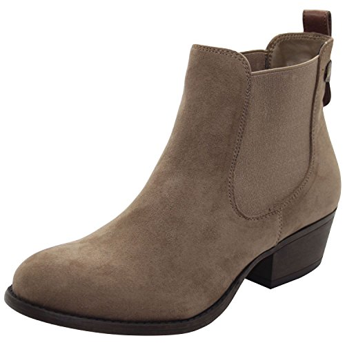 Emma Shoes ,  Damen Hohe Hausschuhe, beige - Lilly Rose-Taupe - Größe: 40