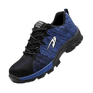 41+7 +swV9L. SS300  - Zapatillas de Seguridad Hombre Zapatos de Mujer Antideslizante Transpirable Zapatos de Trabajo Calzado de Trabajo Ultra Liviano Suave y Cómodo Deportes Unisex