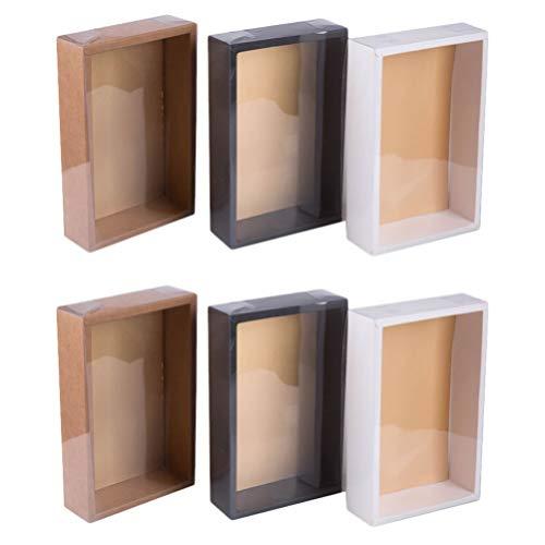 Angoily 6 Cajas de Cupcakes Cajas de Galletas Cajas de Dulces de Panadería con Tapa Transparente Cajas de Embalaje de Regalo para Dulces de Chocolate