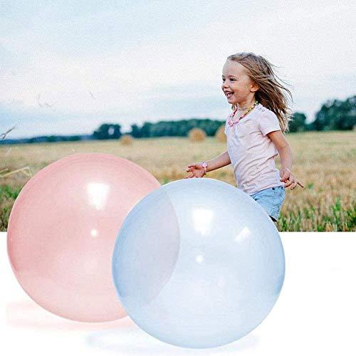 hj Globos de Agua Bola de Burbuja de Agua Transparente TPR, Bolas de Goma Inflables Grandes Increíbles Llenas de Agua Bola Burbujas Increíble para la diversión al Aire Libre de Verano, 3PCS