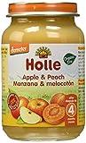 Holle Potito de Frutas Manzana y Melocotón (+ 4 meses) - 190 gr