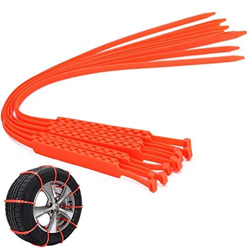 Juego de cadenas de nieve universales para neumáticos de coche, vehículos de emergencia, antideslizantes, con cremallera, cadenas de seguridad para neumáticos de invierno, para coche, SUV