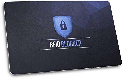TRAVANDO ® RFID Blocker NFC Schutzkarte Karte Geldbörse Geldbeutel Portemonnaie Portmonee Brieftasche Datendiebstahl RFID Schutzhüllen Kreditkarten, EC-Karte, Personalausweis, Reisepass