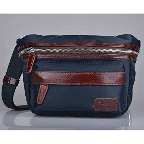ZHANGYANTY Hommes Sport Sac de Taille Multifonctionnel Polyvalent épaule Messenger Sacs Noir, Sports de Plein air à Grande capacité d'usure Poches (Color : Blue)