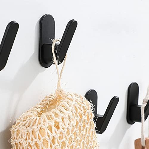 Resistente Ganchos Adhesivos,Baño Gancho De Abrigo Con Pegamento Fuerte,Sin Perforación Ganchos De Toallas De Pared Para El Hogar Almacenamiento De Cocina-A 5.7x2.3cm(2x1inch)