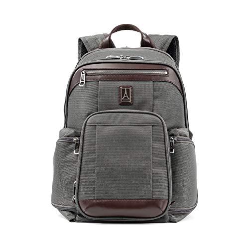 Travelpro Platinum Elite Handgepäck Business Rucksack 44x41x22 cm Weichgepäck mit 15,6 Zoll Laptopfach und Trolley Aufsatzfunktion 23 Liter Nylongepäck Reiserucksack 10 Jahre Garantie