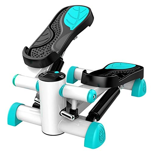 Stepper Steppers for Übung Schaukel Typ Haushalt Silent Klein Jogging Maschine In Situ Multifunktionsklettermaschine Leise Und Stabil (Color : Green, Size : 32.5 * 42 * 25cm)