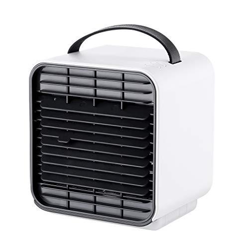 ZEELIY KlimageräT Mobil, LuftküHler Mini Klimaanlage Tragbar,3 In1 Mini Air Cooler,Klimaanlage Wohnung Mini,USB Anschluß 3 Leistungsstufen Tragbare Klimaanlage FüR BüRo Schlafzimmer Zuhause Camping