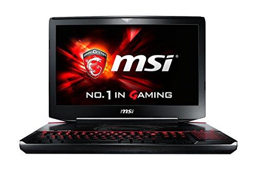 MSI 001812-SKU1004GT80-2QE16SR221BW 46,7cm (18,4 Zoll) Laptop (Intel Core i7 5700HQ, 16GB RAM, 256GB SSD, NVIDIA GeForce GTX 980M-Grafik, Win 10 Home) schwarz