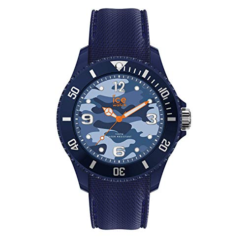 Ice-Watch - Bastogne Blue - Men's (Unisex) wristwatch with silicon strap - 016293 (Medium)