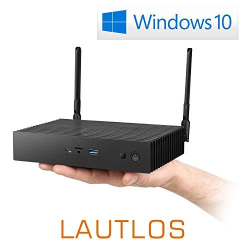 Mini-PC - CSL Narrow Box Ultra HD Storage Line Pentium / 240GB / 8GB / Win 10 - Silent-PC mit Intel-CPU 4X 2600MHz, 240GB SSD, 8GB RAM, Intel HD, AC WLAN, USB 3.1, HDMI, Bluetooth, Windows 10