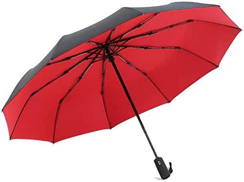 Regenschirm Zehn Knochen Doppelschicht Dreifach Doppelt Verwendbar Wasserdicht Kleine Robuste Winddichte Tragbare Leichte Reise Regenschirm Faltsonne Automatische Markise Rot Regenschirm Sturmsicher