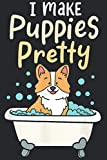 Imake Puppies Pretty Funny Fur Artist Dog Groomer: The Paperback Notebook, medium size 6x9 inches, lined papers, 120 Pages