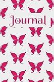 Butterfly Journal: Journal Butterfly, pink butterfly journal, butterfly journal for kids