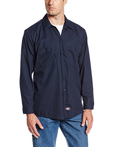Dickies Occupational Workwear LL535NV 3XL Polyester/Baumwolle Herren Langarm Industrie Arbeitshemd 3XL, Marineblau