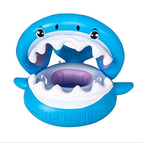 Tiburón de la natación Anillo con Toldo baño Infantil Anillo de Material PVC Inflable del Asiento del Anillo con toldo natación del bebé Anillo práctica de la natación