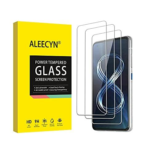 [3 Stück]Aleecyn Schutzfolie Kompatibel mit Asus ZenFone 8,Anti-Kratz, 9H Festigkeit,Hohe Qualität Gehärtetem GlassBildschirmschutz Folie für Asus ZenFone 8