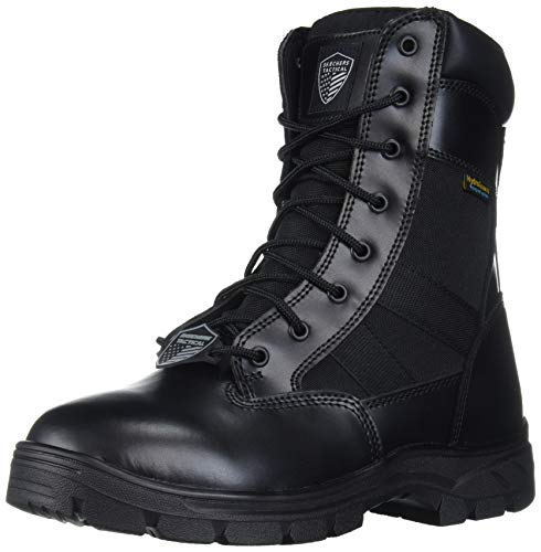 Skechers mens Wascana-athas Military and Tactical Boot, Black, 8.5 Wide US