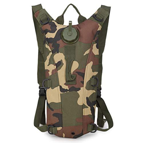 Jinpings Mochila de hidratación militar, portátil, bolsa de agua táctica de 3 L, con pajita, para correr al aire libre, ciclismo, senderismo, escalada, esquí (estilo 5)