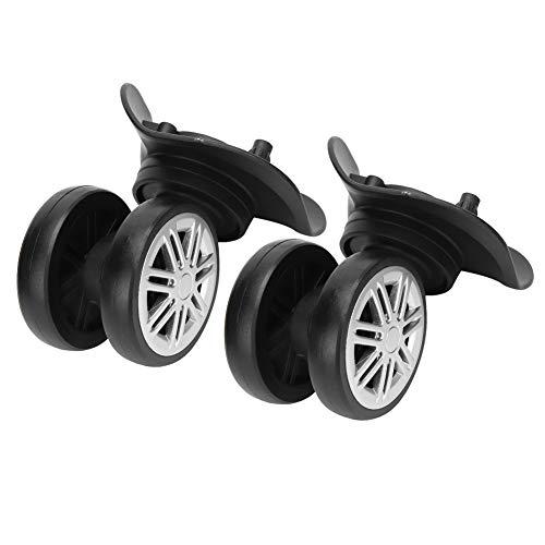 Redxiao Ganz Kofferrad, Stummrad, druckbest?ndig, umweltfreundlich, schwarz, verschlei?fest für Outdoor-Trolley-Koffer
