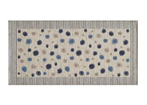 BIANCHERIAWEB Tappeto Passatoia Cucina Antiscivolo Antimacchia Lavabile Plutone Blu Suardi 55x280 Blu