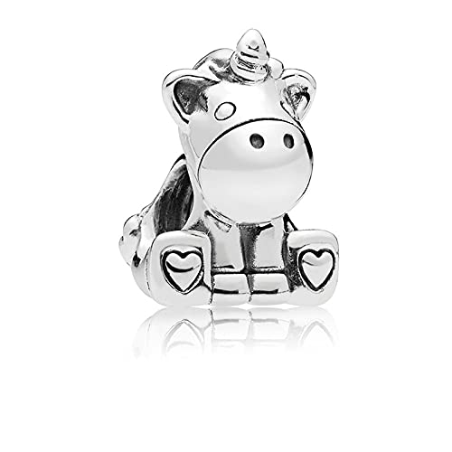 Pandora Moments - Abalorios de plata de ley 925, diseño de unicornio para pulseras y collares